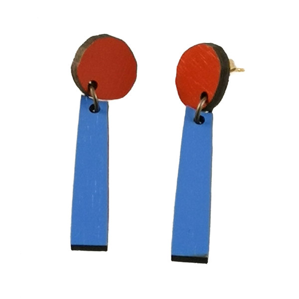 Composition Abstract stud Earrings 011