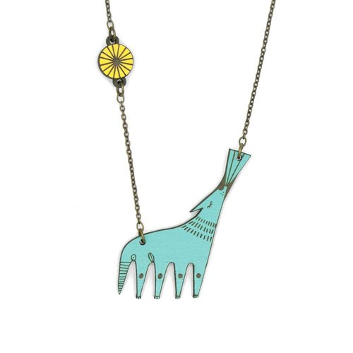 Materia Rica Howling Wolf Necklace 017