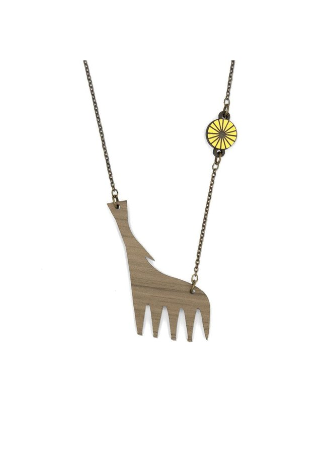 Heulende Wolf Halskette 017