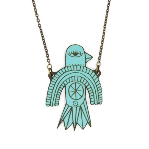 Materia Rica Flying Bird Necklace 015