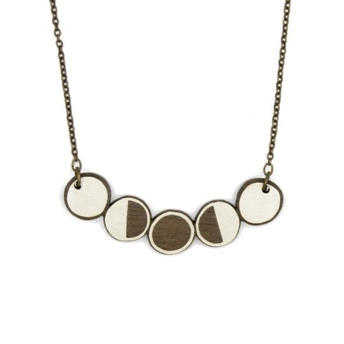 Materia Rica Mondphasen Halskette 016