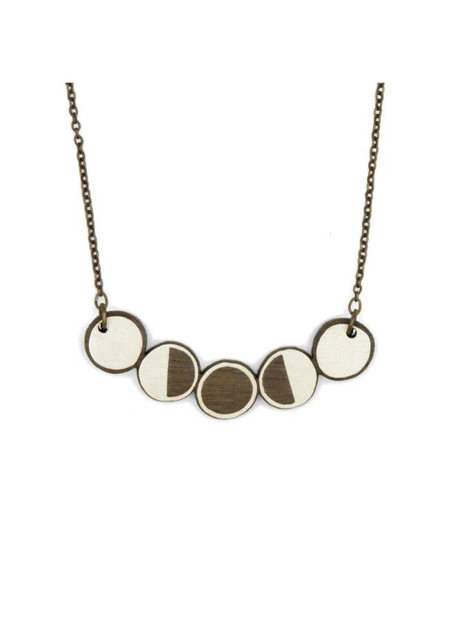 Mondphasen Halskette 016