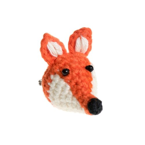 Just Trade Mini Fox Brooch 05