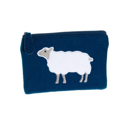 Just Trade Sheep Applique Felt Purse  34