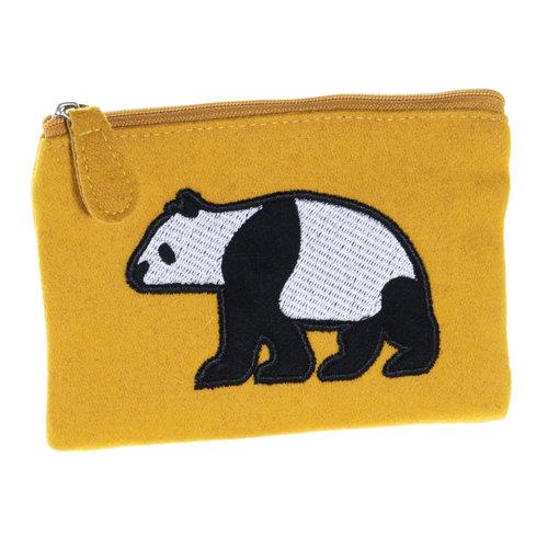 Just Trade Panda Applique Felt Purse  36