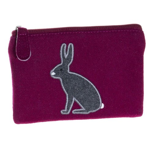 Just Trade Arctic Hare Applique Felt Purse  35
