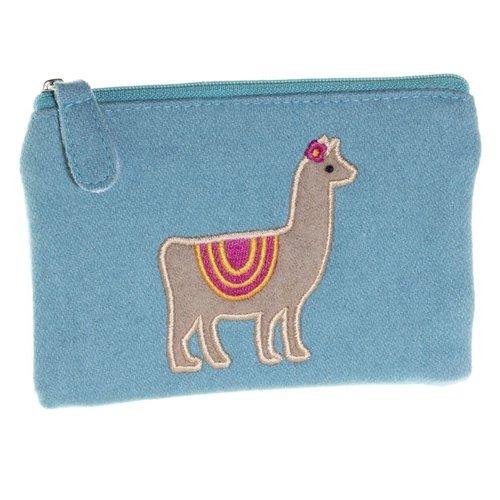 Just Trade Llama Applique Felt Purse  37