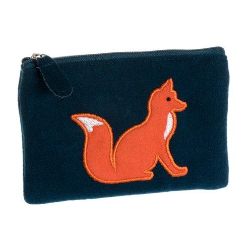 Just Trade Fox Applique Felt Purse  38