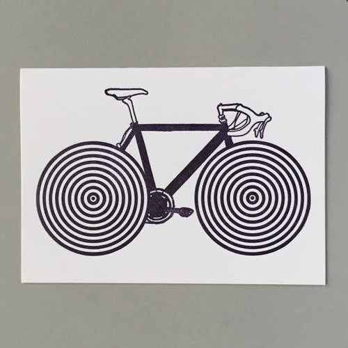 Keyhole Collection Bike Spokes hand crafted letterpress card