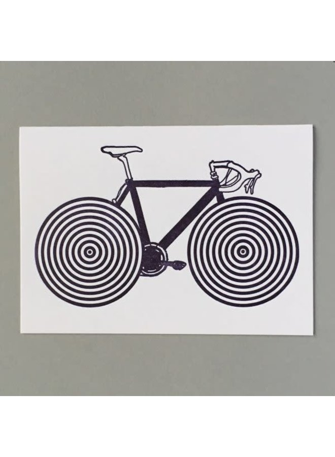 Bike Spokes hand crafted letterpress card