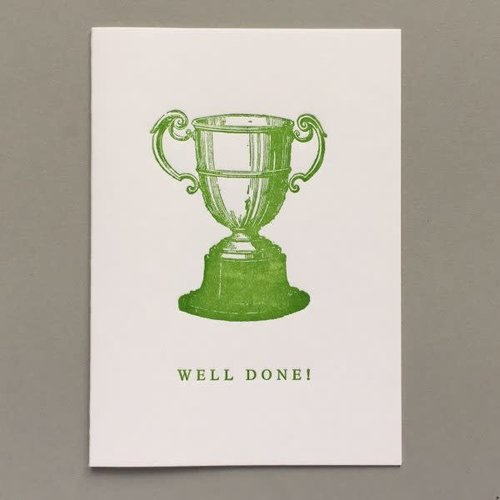 Keyhole Collection Well Done!  hand crafted letterpress card