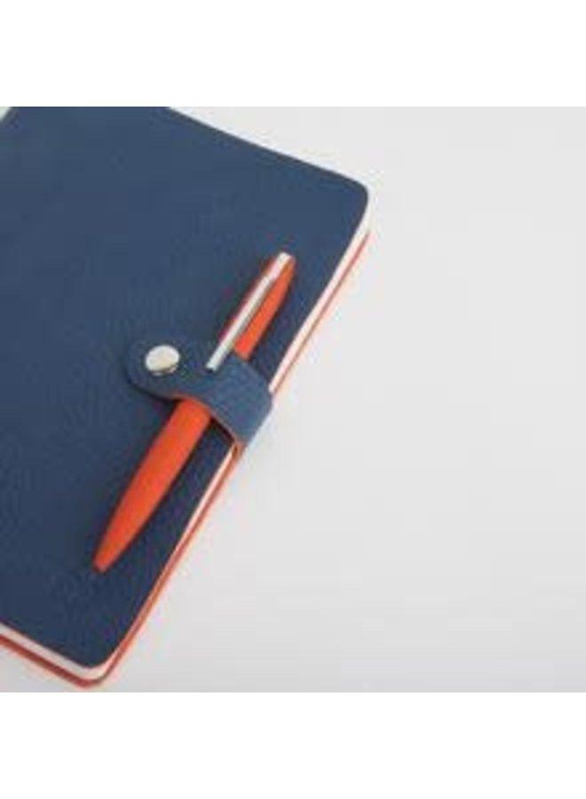 Nicobar Vegan Navy Notebook mit Verschlusspapier 003