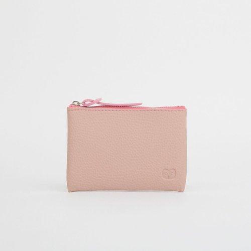 goodeehoo Coin vegan pink zip purse 040