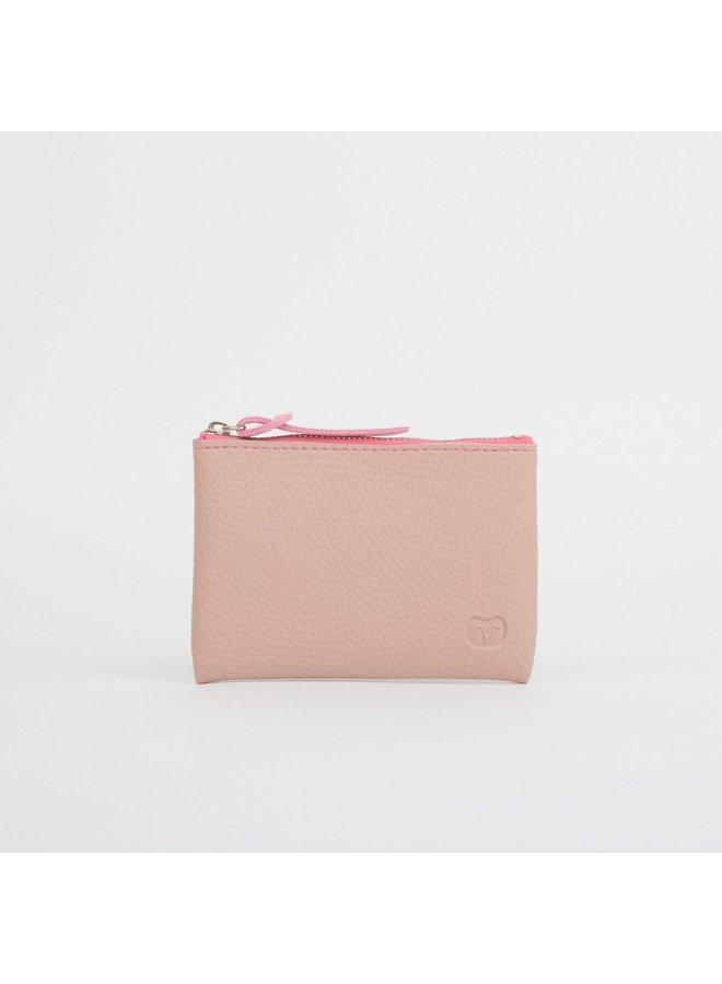 Münze vegan rosa Reißverschluss Geldbörse 040