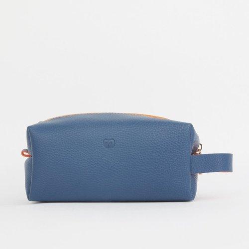 goodeehoo Bolsa de lavado Wallace azul marino con asa 022
