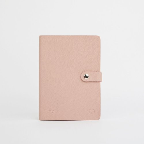 goodeehoo Nicobar Vegan Pink Notebook with clasp lined paper 038