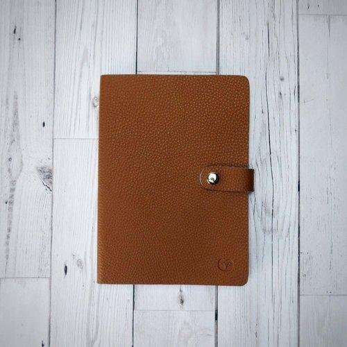 goodeehoo Nicobar Vegan Tan Notebook mit Verschlusspapier 004