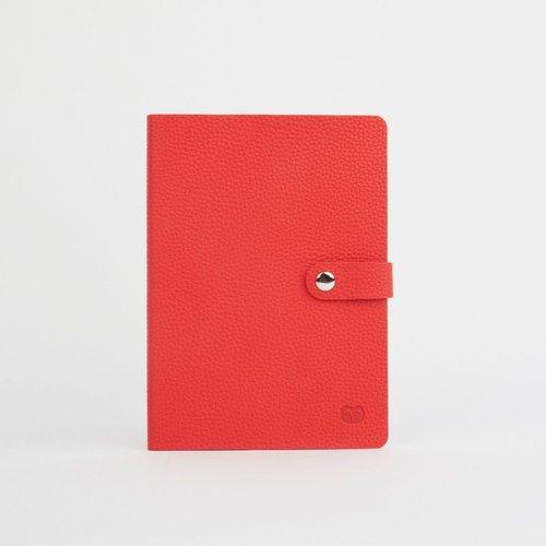goodeehoo Cuaderno Nicobar VeganRed con cierre de papel rayado 039
