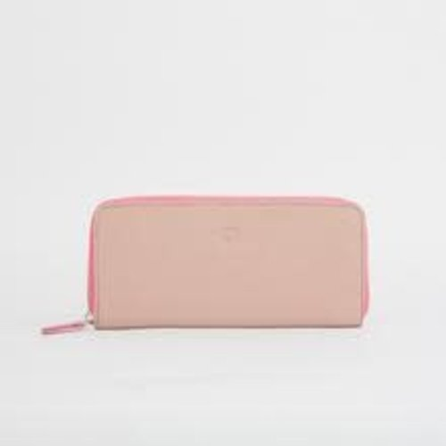 goodeehoo Monedero rosa grande con cremallera 36