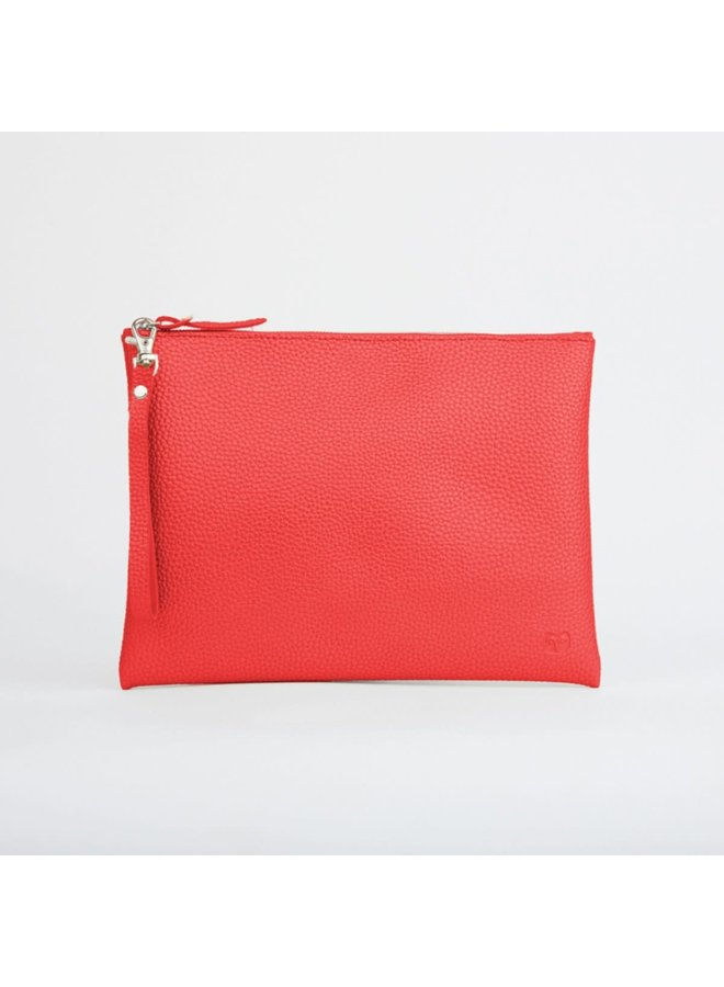 Red Peruvian Pouch with Handle 021