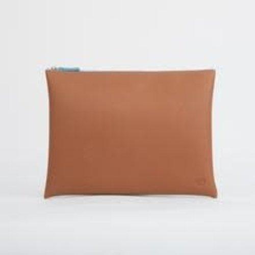 goodeehoo Tan Large zip pouch  025