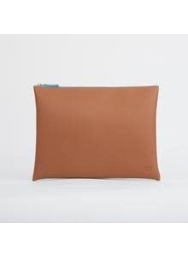 Tan Large zip pouch  025