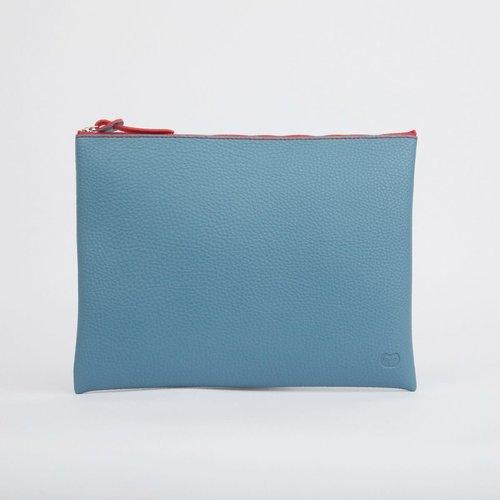 goodeehoo Bolsa grande con cremallera verde azulado 023