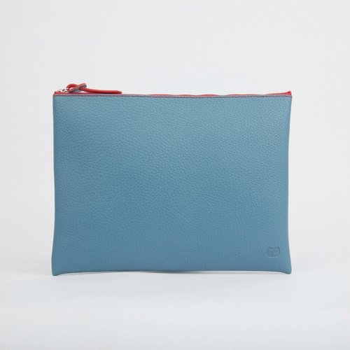 goodeehoo Teal Large zip pouch  023