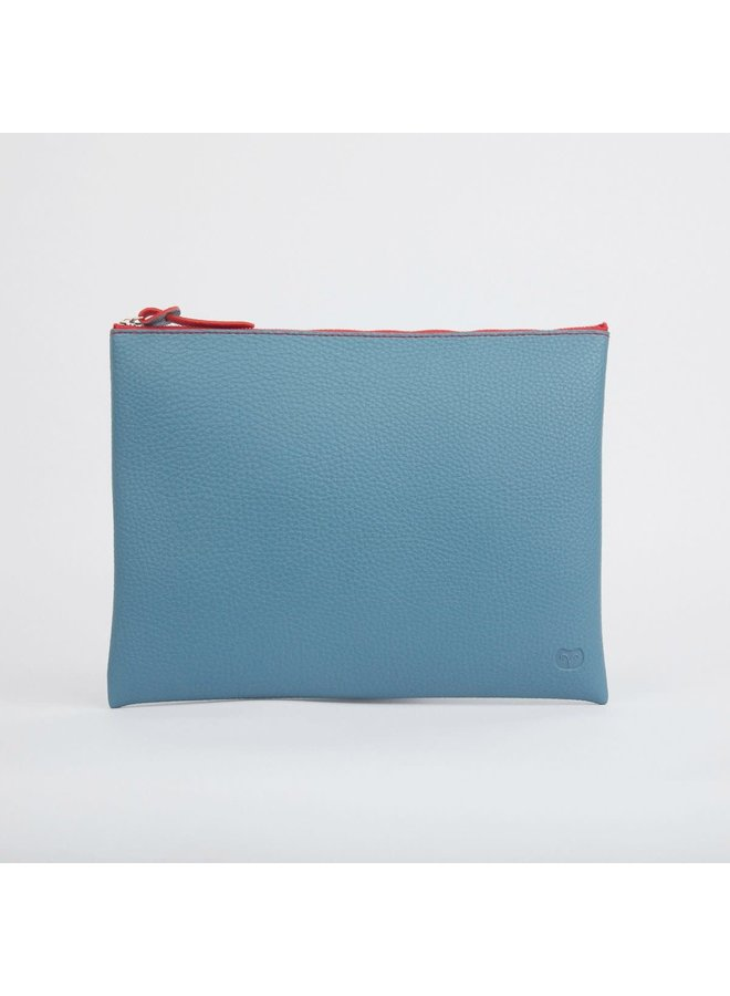 Blaugrün Großer Reißverschlusstasche 023