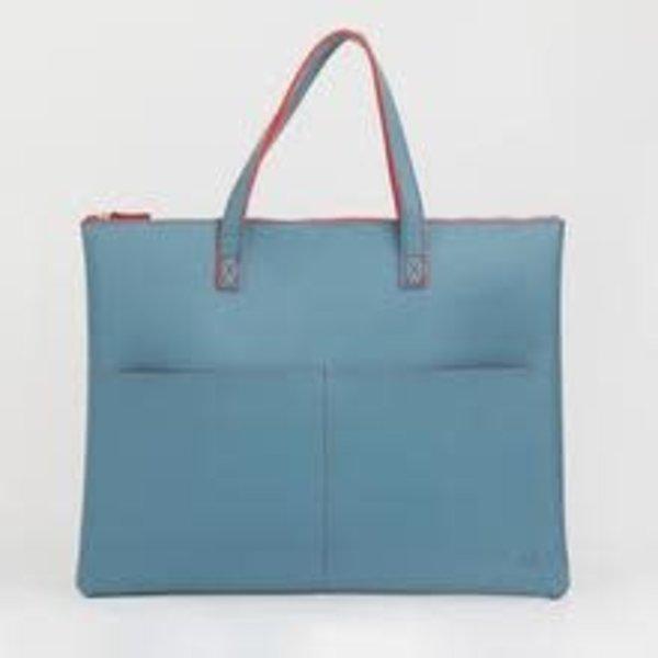 Blaugrüne Einkaufstasche 029
