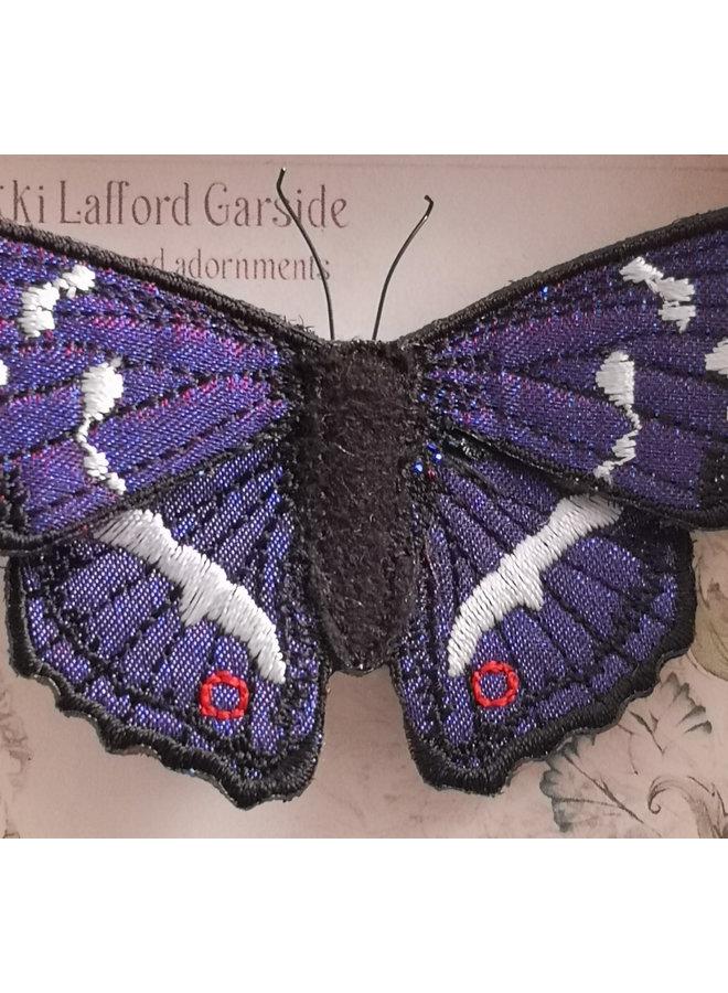 Lila Kaiser British Butterfly Gestickte Brosche