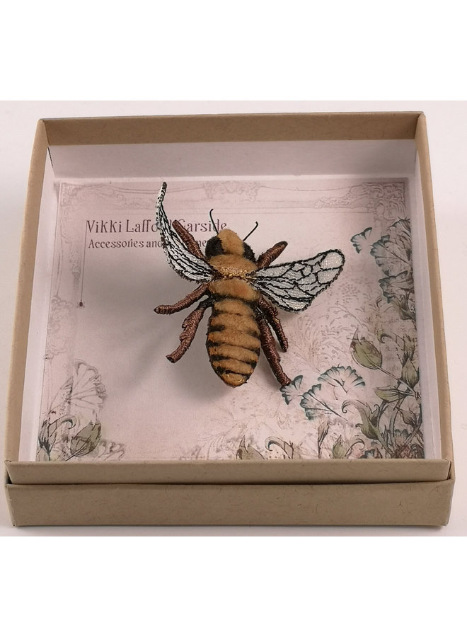 Honigbiene bestickte Brosche 070
