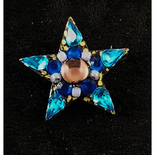 Annie Sherburne Blue Star Vintage Brosche 169