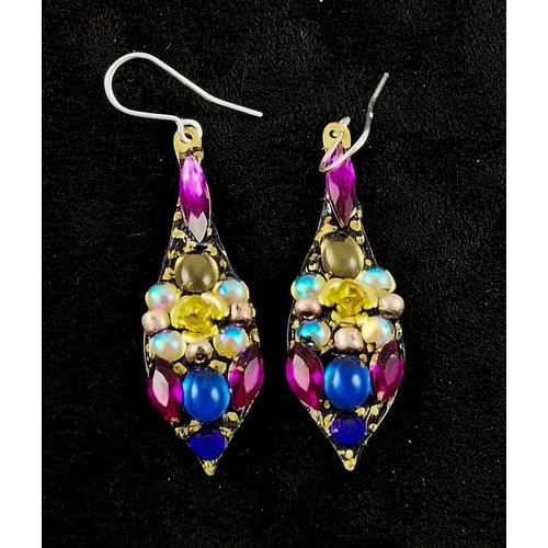 Annie Sherburne Boucles d'oreilles vintage grandes pendantes 157