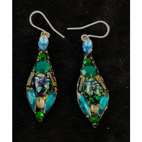 Annie Sherburne Vintage large drop earrings 161