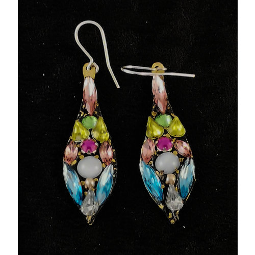 Annie Sherburne Boucles d'oreilles vintage grandes pendantes 162