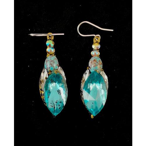 Annie Sherburne Boucles d'oreilles vintage grandes pendants 165