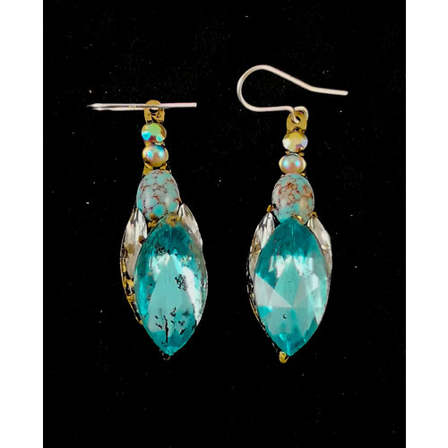 Annie Sherburne Vintage large drop earrings 165