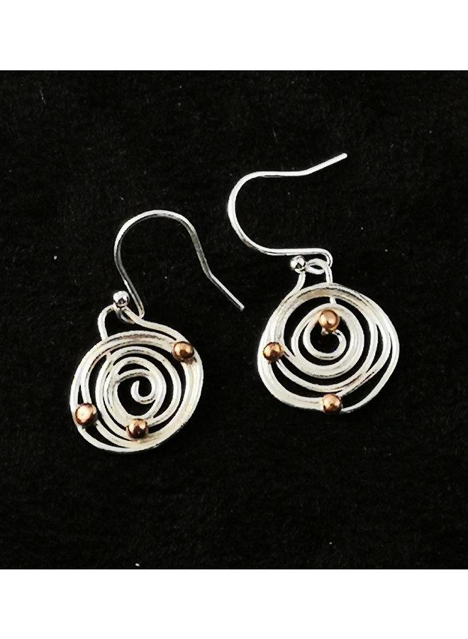 Ohrringe mit Kringel und Kugelkreis 31