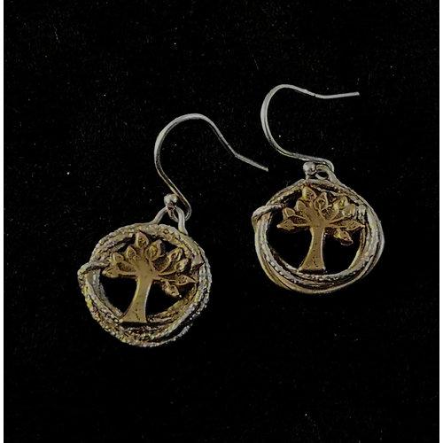 Xuella Arnold Tree circle drop earrings 30