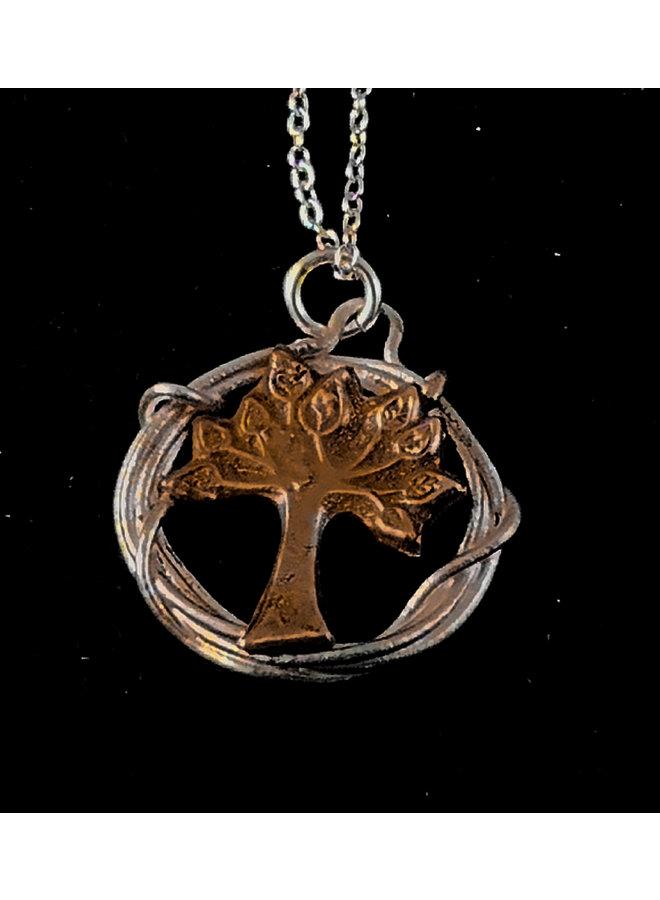 Baum in Kreis Halskette 18