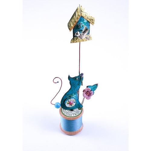 Beastie Assemblage Casa de gatos y pájaros en conjunto de bobina 039