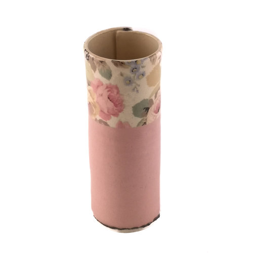 Virginia Graham Pink with Roses small bud vase 16