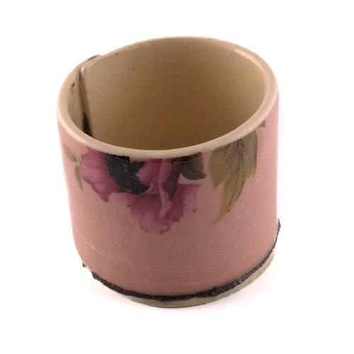 Virginia Graham Pink with anemone flowers tiny planter 03