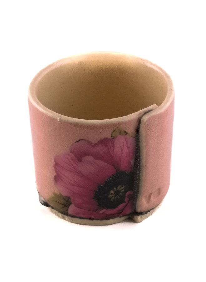 Pink mit Anemonenblüten winziger Pflanzer 03