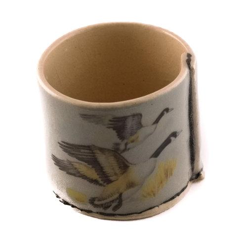 Virginia Graham Grau mit fliegenden Enten winziger Pflanzer 08