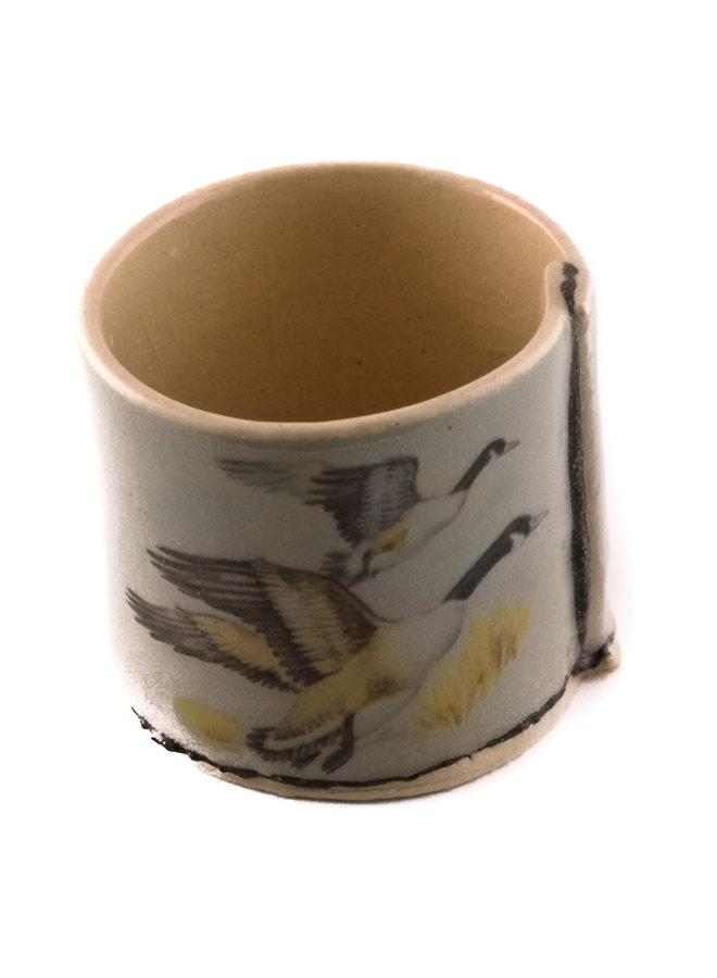 Grau mit fliegenden Enten winziger Pflanzer 08