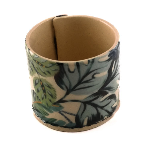 Virginia Graham Cream with blue leaves tiny planter 07