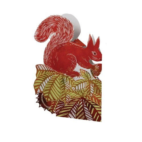 Judy Lumley Chestnut Squirrel  3D card