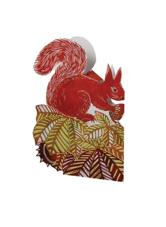 Kastanien-Eichhörnchen-3D-Karte